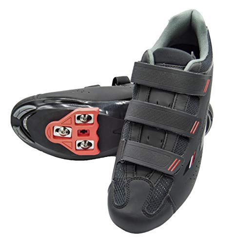 Tommaso Strada 100 Dual Cleat Compatible Spin Class Ready Bike Shoe - Look Delta -45 Black