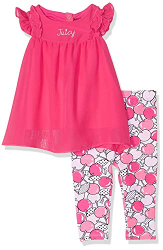 Juicy Couture Baby Girls 2 Pieces Legging Set, Watermelon Beach/Print, 18M