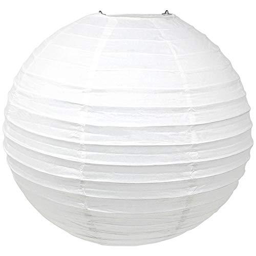 Just Artifacts 24-Inch White Round Chinese Japanese Paper Lantern (1pc, White)