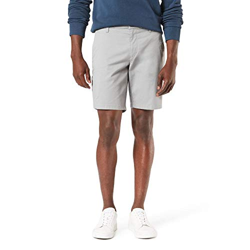 Dockers Men's Straight Fit Supreme Flex Ultimate Short, foil gray, 34W