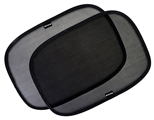 Enovoe Car Window Shade - (4 Pack) - 21'x14' Cling Sunshade for Car Windows - Sun, Glare and UV Rays Protection for Your Child - Baby Side Window Car Sun Shades