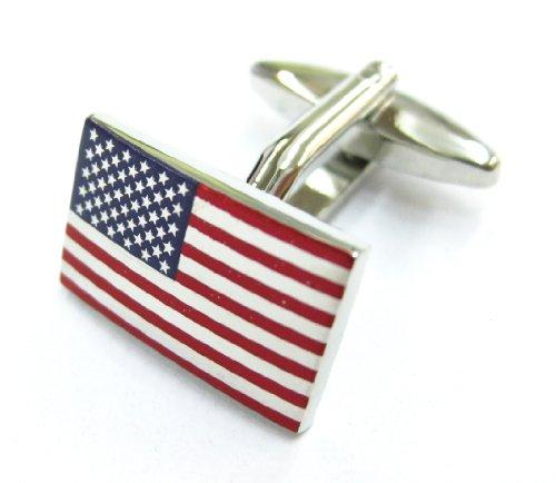Tailor B US Flag Cufflinks Flag of United States Cuff Links Gemelos 130006-1