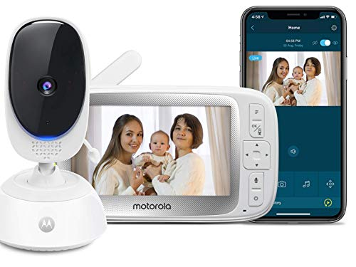 Motorola Connect40 by Hubble Connected Video Baby Monitor - 5' Parent Unit and HD Wi-Fi Viewing for Baby, Elderly, Pet - 2-Way Audio, Night Vision, Remote Pan/Digital Zoom