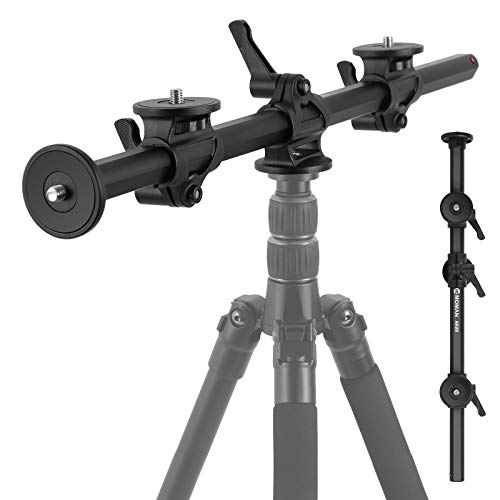 Moman A620 Horizontal Tripod Arm, 24 inches/61cm Camera Tripod Bottom Axis with 3/8 Inches Screws for Outdoor Studio Macro Photography (Only Boom Arm Included)