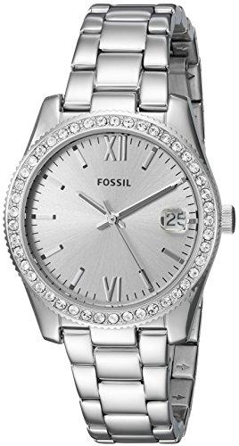 Fossil Women's Scarlette Quartz Watch with Stainless-Steel Strap, Silver, 16 (Model: ES4317)