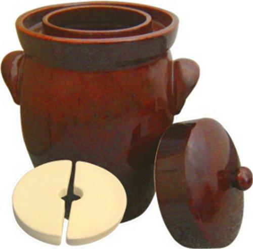 7 L (1.9 Gal) K&K Keramik German Made Fermenting Crock Pot, Kerazo F2