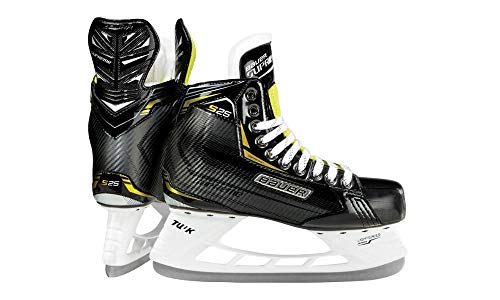 Bauer Supreme S25 Senior Ice Hockey Skates - Tuuk Stainless Steel Blades, Heat Moldable (Size 7.0)