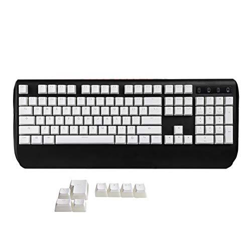 YMDK 108 PBT Double Shot Shine Through ANSI ISO OEM Profile Pudding Keyset Keycap for MX Mechanical Keyboard