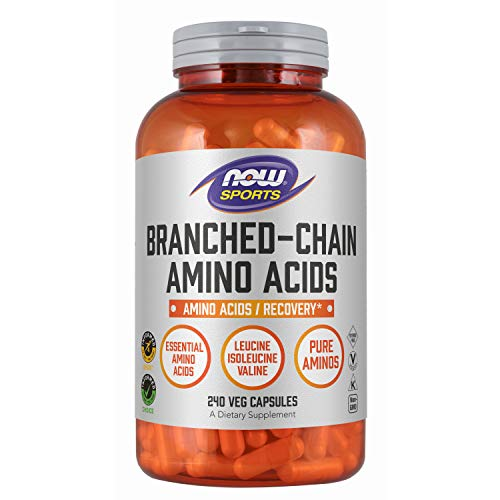 NOW Sports Nutrition, Branched Chain Amino Acids, With Leucine, Isoleucine and Valine, 240 Capsules
