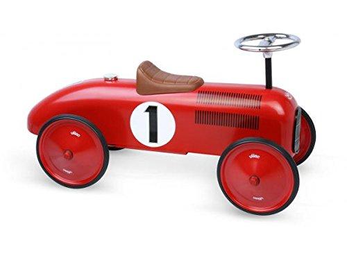 Vilac Vintage Ride On Car, Metal Speedster. 30' Long (Red)