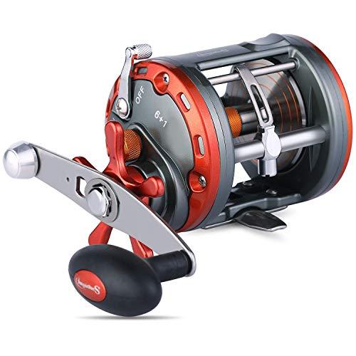 Sougayilang Trolling Reel Level Wind Fishing Reel Conventional Jigging Reel for Ocean Fishing Salmon-3000-Right Handed