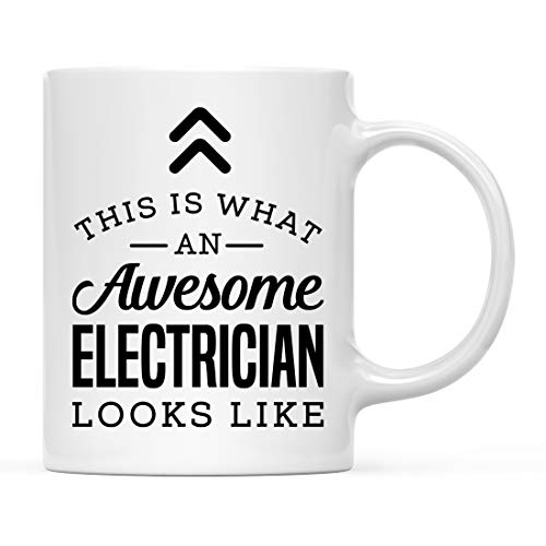 Andaz Press 11oz. Ceramic Coffee Tea Mug Thank You Gift, This is What an Awesome Electrician Looks Like, 1-Pack