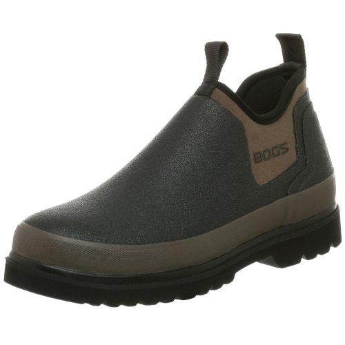 Bogs Men's Tillamook Bay Waterproof Slip On Rain Boot, Black, 12 M