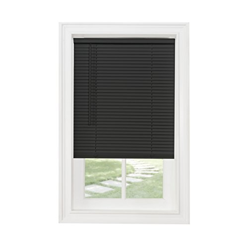 Achim Home Furnishings Cordless GII Morningstar 1' Light Filtering Mini Blind, Length 64inch Drop X Width 27inch, Black