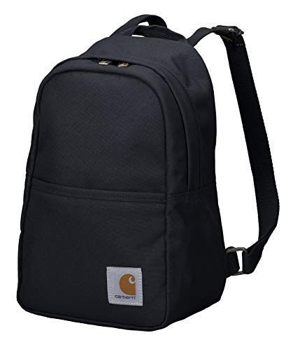Carhartt Mini Backpack, Everyday Essentials Daypack for Men and Women, Black