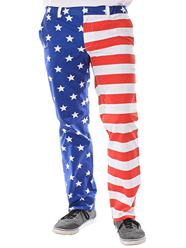Tipsy Elves Men's Trousers - American Flag Pants Size M