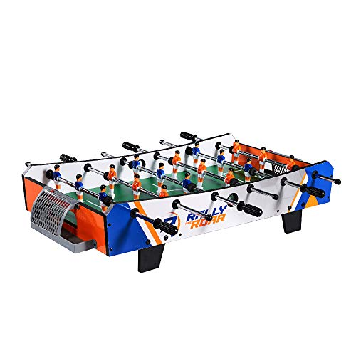 Rally and Roar Foosball Tabletop Games and Accessories, Mini Size - Fun, Portable, Foosball Soccer Tabletops Soccer - Recreational Hand Soccer for Game Rooms, Arcades, Bars, for Adults, Family Night