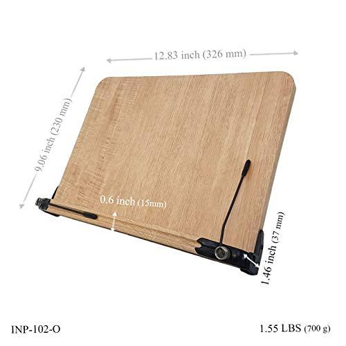 BestBookStand INP-102-O Patented Ergonomic Premium Book Stand (Bookstand/Bookstands/Holder/Cookbook/Music)