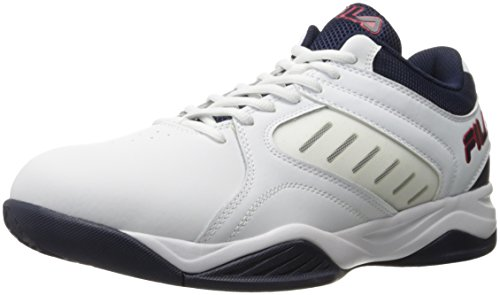 Fila Men's Bank Basketball Shoe, White Navy Red, 11.5 M US