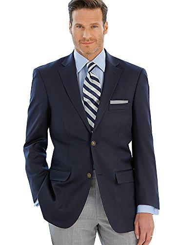 Paul Fredrick Men's Classic Fit Wool Travel Blazer Navy 50 Regular