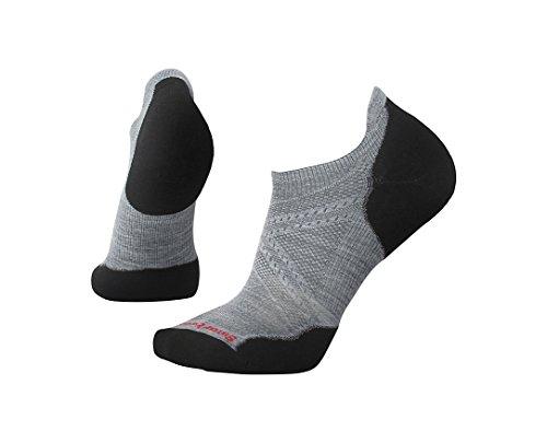 Smartwool PhD Run Light Elite Micro Light Gray/Black XL (Men's Shoe 12-14.5)