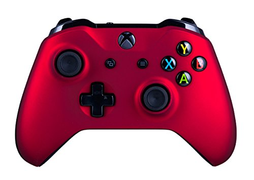 Xbox One S Wireless Controller for Microsoft Xbox One - Soft Touch Red X1 - Added Grip for Long Gaming Sessions - Multiple Colors Available