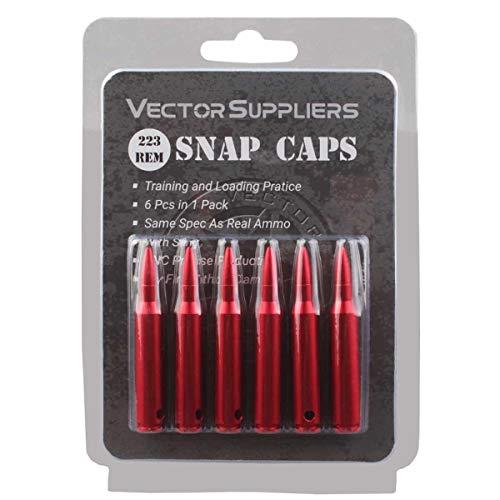 TAC Vector Optics Snap Caps 223 Rem, Rifle Metal Snap Caps for 223 Remington