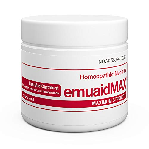EmuaidMAX Ointment - Antifungal, Eczema Cream. Maximum Strength Treatment. Use Max Strength for Athletes Foot, Psoriasis, Jock Itch, Anti Itch, Ringworm, Rash, Shingles and Skin Yeast Infection.