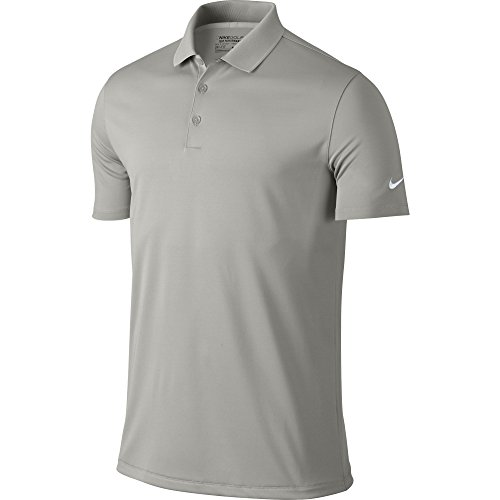 NIKE Men's Dry Victory Polo, Pewter Grey/White, X-Large