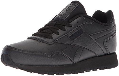 Reebok Womens Classic Harman Run Sneaker, black/black, 9 M US