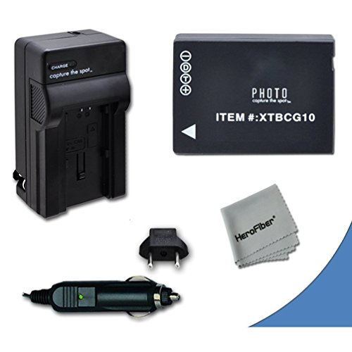 High Capacity Replacement Panasonic DMW-BGC10 / DMW-BGC10PP Battery with AC/DC Quick Charger Kit for Panasonic Lumix DMC-3D1, DMC-TZ6, DMC-TZ10, DMC-TZ18, DMC-TZ19, DMC-TZ20, DMC-TZ25, DMC-TZ30, DMC-TZ35, DMC-ZR1, DMC-ZR3, DMC-ZS1, DMC-ZS5, DMC-ZS6, DMC-ZS7, DMC-ZS8, DMC-ZS9, DMC-ZS10, DMC-ZS15, DMC-ZS19, DMC-ZS20, DMC-ZS25, DMC-ZX1, DMC-ZX3 Digital Cameras