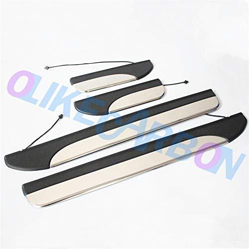 OLIKE for Honda Accord 2013 14 15 16 2017 9TH Fashion Style Led Door Sill Scuff Plate Guard Sills Protector Trim