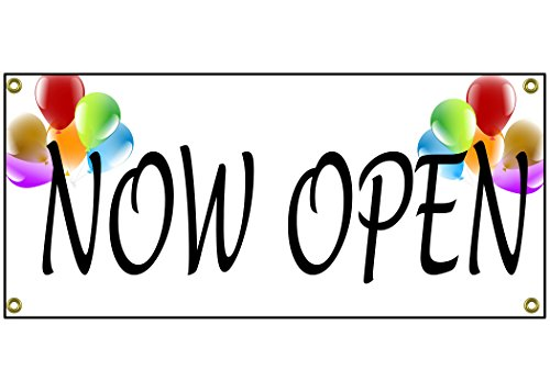 Now Open Banner Retail Store Shop Business Sign 36' by 15'