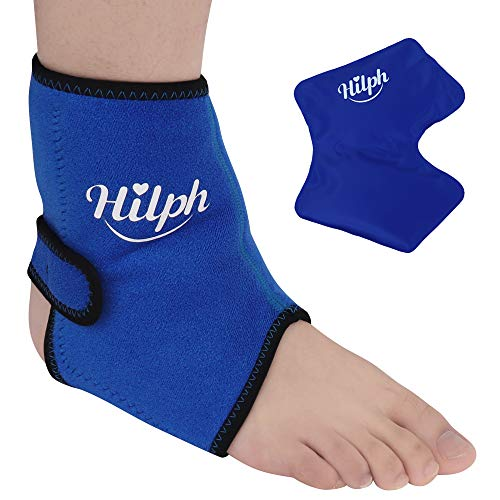 Hilph Foot/Ankle Ice Pack, Hot Cold Ice Pack Wrap for Compact Ankle, Foot's Plantar Fasciitis, Achilles Tendon Injuries, Swelling, Arthritis, Post Surgery, Bursitis & Aches-10.5' X 8.4'