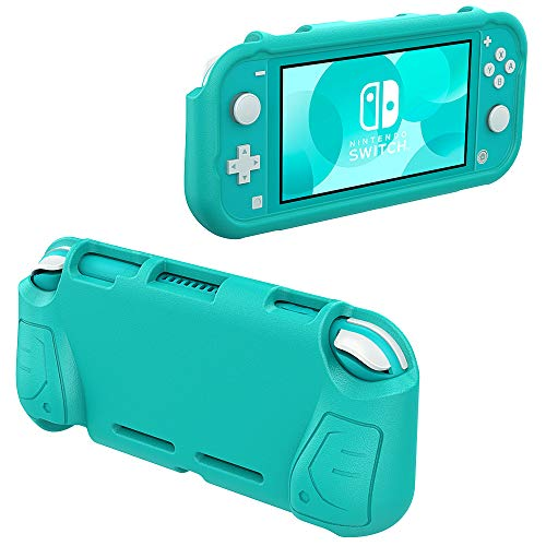 MoKo Grip Case Compatible with Nintendo Switch Lite, Comfort Ergonomic Handle Case EVA Protective Portable Cover Accessories Compatible with Nintendo Switch Lite - Turquoise