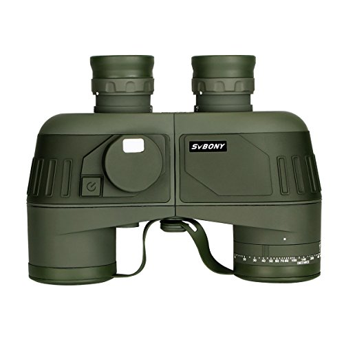 SVBONY SV27 Binoculars Military with Rangefinder forAdults 7x50 for Hunting Waterproof with Bak4 Porro Prism and Compass Marine for Boating and Sea Adventure