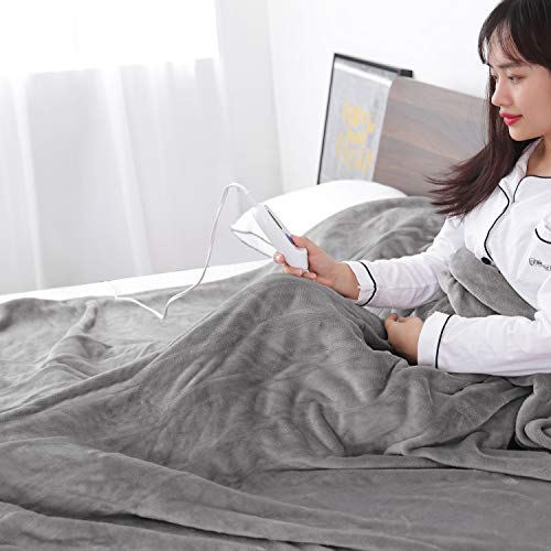 Electric Heated Blanket Twin 62' x 84' Large Heating Throw Blanket with 4 Heating Levels & Timer 10 Hours Auto Off, Machine Washable, Warm Comfort Blanket for Home Office Bed Sofa