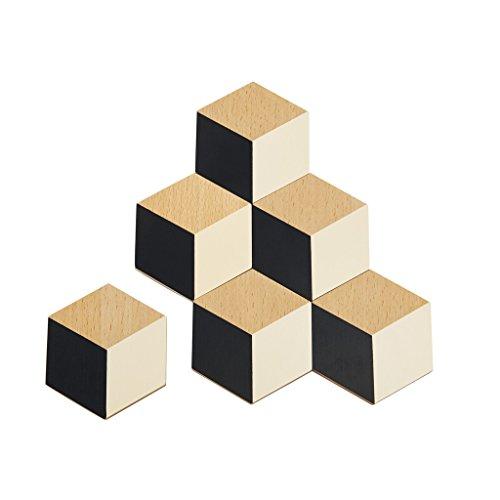 Areaware Table Tiles (Black/Beige)