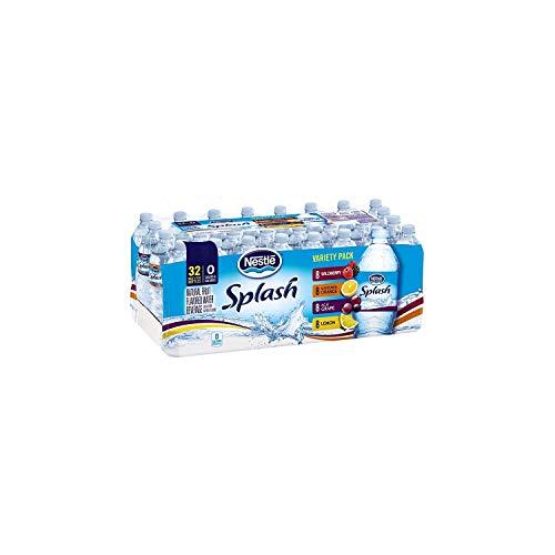 Nestle Pure Life Splash Variety Pack Water, 16.9 Ounce (32 Bottles)