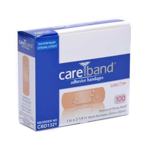 Care Band Waterproof Adhesive Bandages 1x3.25 100/box