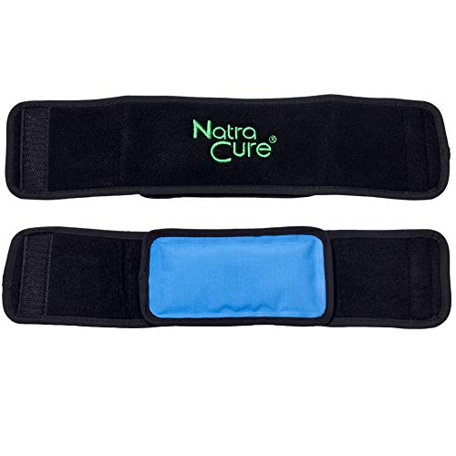 NatraCure Cold Therapy Wrap w/ 20' Strap - 2 Pack (Small Reusable Gel Ice Pack Compress for Injuries and Pain Relief, Hand, Arch of Foot, Wrist, Elbow, Arthritis, Neuropathy) - 715-20 CAT2PK