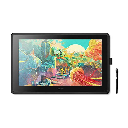 Wacom Cintiq 22 Creative Pen Display including adjustable Stand —for on screen Illustrating and Drawing, with 1920 x 1080 Full HD Display and Pro Pen 2 Pen Precision, Windows & Mac Compatible