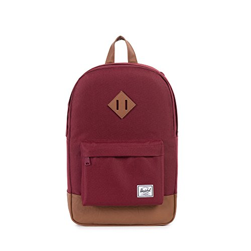 Herschel Heritage Backpack, Windsor Wine/Tan Synthetic Leather, Classic 21.5L