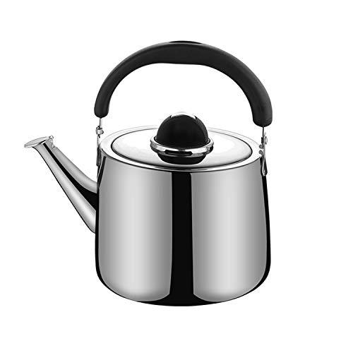 M-MAX Stainless Steel Tea Kettle Stovetop Whistling Teakettle Teapot with Ergonomic Handle -2.5QT/3QT/4QT/6QT (3L)