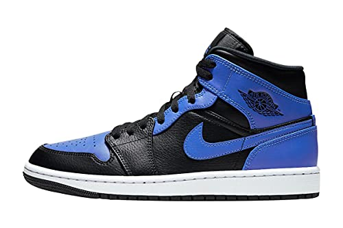 Nike Mens Air 1 Mid 554724 077 Black Royal (Numeric_9)