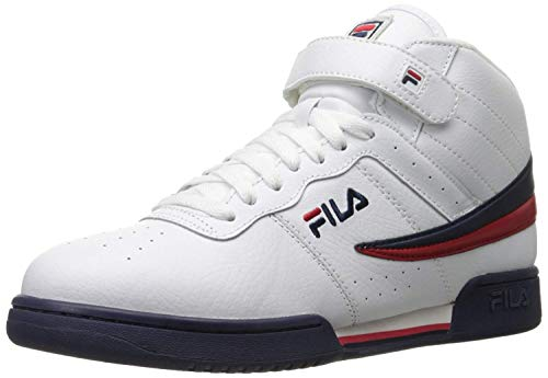 Fila Men's f-13v lea/syn Fashion Sneaker, White Navy Red, 13 M US