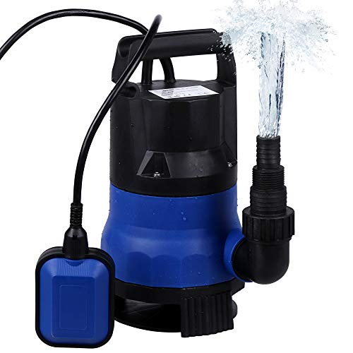 Sump Pump 1/2HP 2112GPH Submersible Clean Dirty Water Pump For Pond, Swimming Pool, hot tub Drain (Blue)