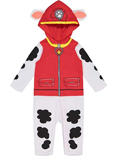 Nickelodeon Paw Patrol Marshall Boys' Hooded Costume Coverall, Marshall, Size 5T
