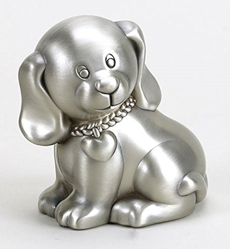 Creative Gifts International Puppy Bank, Silver