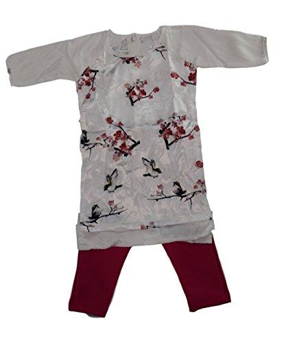 Ao Dai Baby Vietnamese Viet NAM Traditional Long Dress Kid Set - White Lunar New Year (4)